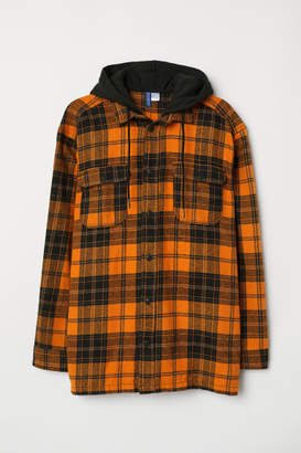 H&M Flannel Shirt with Hood - Orange