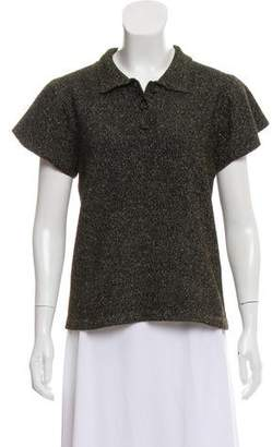 Co Metallic Short Sleeve Top