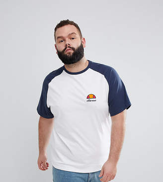 Ellesse Raglan T-Shirt With Logo In White