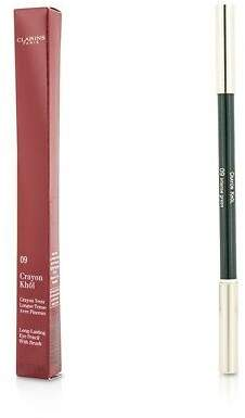 Clarins NEW Long Lasting Eye Pencil with Brush (# 09 Intense Green)