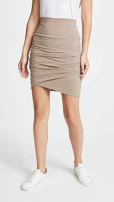 James Perse High Waist Wrap Skirt