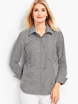 Talbots Gingham Embellished Shirt