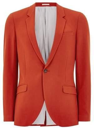 Topman Mens Brick Red Spray On Suit Jacket