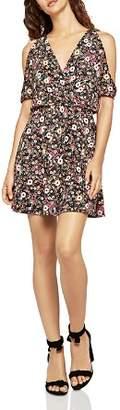 BCBGeneration Cold-Shoulder Floral Print Dress