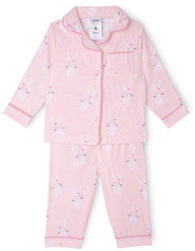 Sprout NEW Girls Flanalette Set Lt Pink