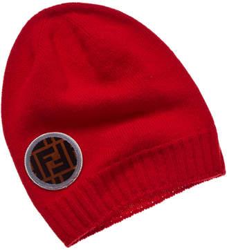 Fendi Ff Patch Wool & Cashmere-Blend Hat