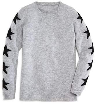 Aqua Girls' Star-Print Cashmere Sweater, Big Kid - 100% Exclusive