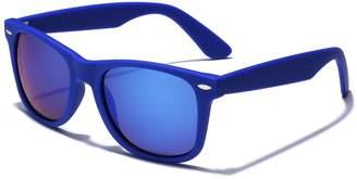 Retro Rewind Colorful Retro Fashion Wayfarer Sunglasses - Rubber Frame with Color Mirror Lens