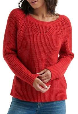 Lucky Brand Ribbed Long-Sleeve Sweater