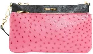 Miu Miu Ostrich Clutch Bag