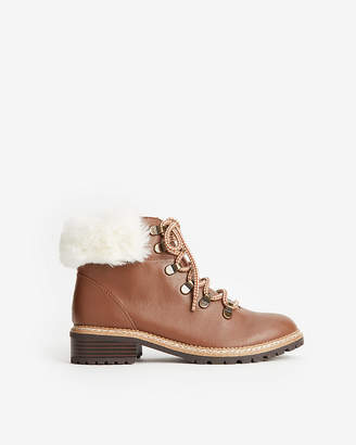 Express Faux Fur Hiker Boots