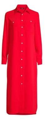 Polo Ralph Lauren Modern Drape Long-Sleeve Shirtdress
