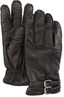 Guanti Giglio Fiorentino Belted Napa Leather Gloves with Cashmere Lining