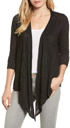 Velvet by Graham & Spencer Textured Knit Ballet Tie Cardigan
