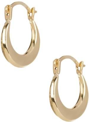 Candela 8mm 14K Yellow Gold Puffed Hoop Earrings