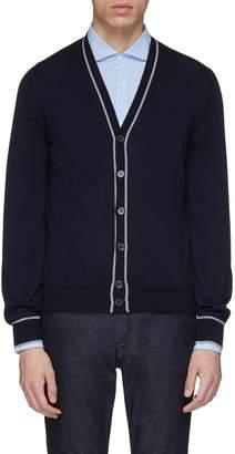 Brunello Cucinelli Stripe border virgin wool-cashmere cardigan