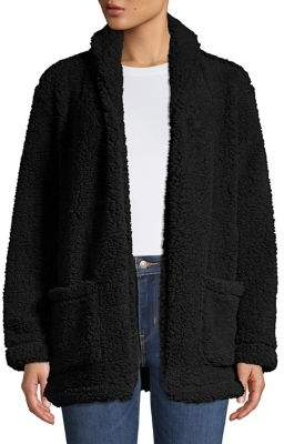 Lord & Taylor Teddy Open Front Jacket
