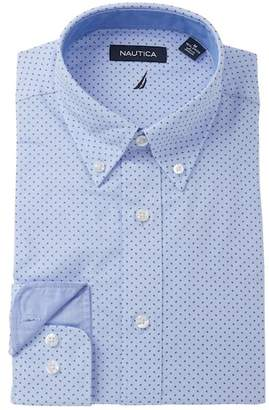 Nautica Printed Classic Fit Dress Shirt