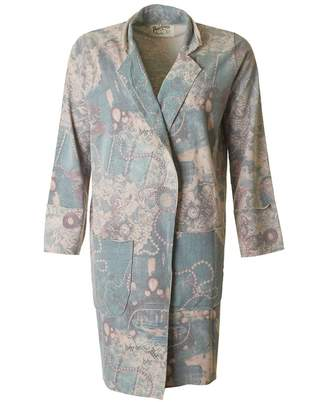 Bea Yuk Mui A Postcard From Brighton Unstructured Bejewelled Print Coat Colour