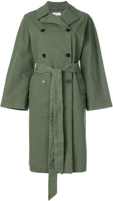 Masscob denim trench coat