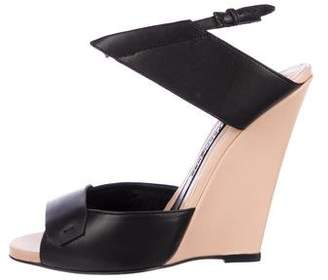 Narciso Rodriguez Cutout Wedge Sandals w/ Tags