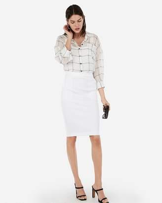 Express High Waisted Patch Pocket Pencil Skirt
