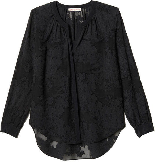 Rebecca Taylor Long Sleeve Floral Blouse