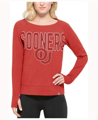 '47 Women's Oklahoma Sooners React Raglan Long Sleeve T-Shirt