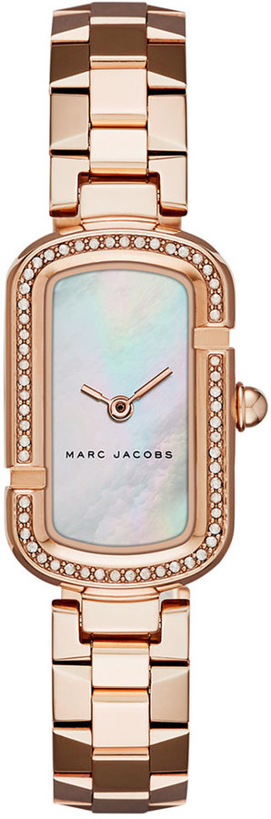 Marc By Marc JacobsMarc by Marc Jacobs Women's The Jacobs Rose Gold-Tone Stainless Steel Bracelet Watch 20x31mm MJ3537