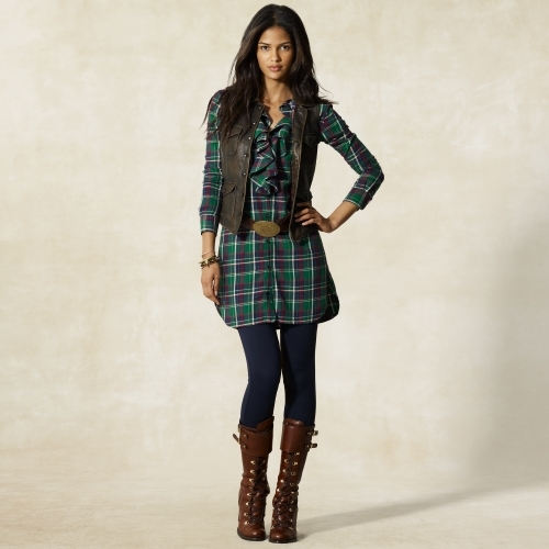 Ashlyn Plaid Shirt Dress