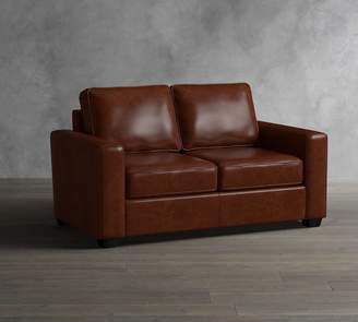 Pottery Barn Soma Fremont Square Arm Leather Sofa Collection