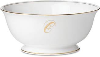 Lenox Federal Gold Monogram Serving Bowl, Script Letters