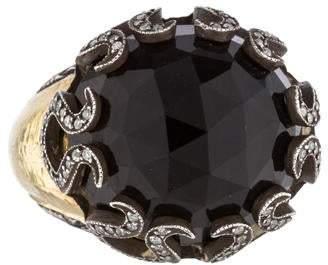 Sevan Biçakci Smoky Quartz & Diamond Ring