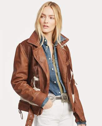 Ralph Lauren Print Leather Jacket