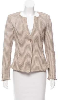 Armani Collezioni Textured Leather Jacket