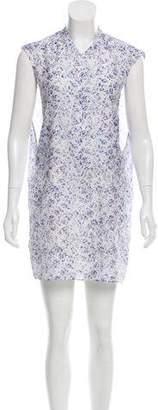 Theyskens' Theory Sleeveless Printed Mini Dress