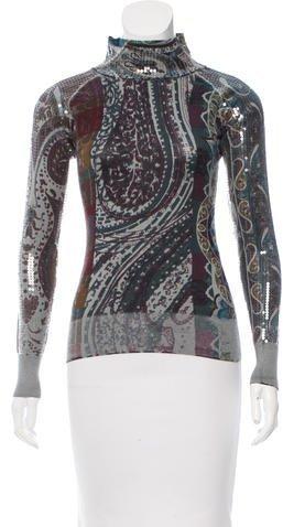 EtroEtro Embellished Silk & Cashmere-Blend Sweater