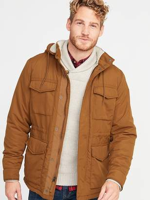 Old Navy Water-Resistant Sherpa-Lined Hooded Field Jacket for Men