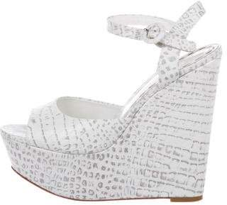 Alice + Olivia Embossed Platform Wedges