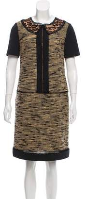 Alberta Ferretti Tweed Shift Dress