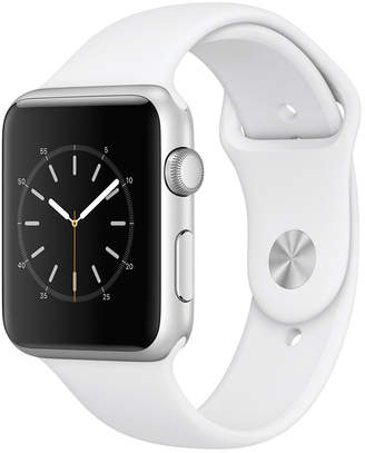 Apple Watch Series 1 42mm Silver-Tone Aluminum Case with White Sport Band $299 thestylecure.com