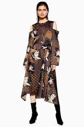 Topshop **Orchid Print Skater Dress by Boutique