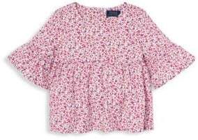 Ralph Lauren Little Girl's& Girl's Floral Cotton Top