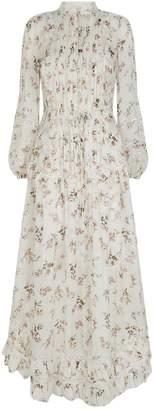 Zimmermann Silk Whitewave Floral Maxi Dress