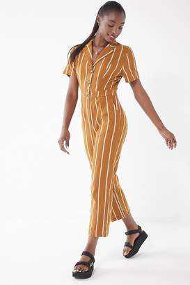 Urban Outfitters Collared Pinstripe Jumpsuit