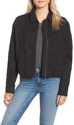 James Perse Dolman Sleeve Bomber Jacket
