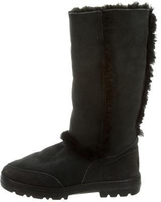 UGGUGG Australia Suede Shearling-Trimmed Boots
