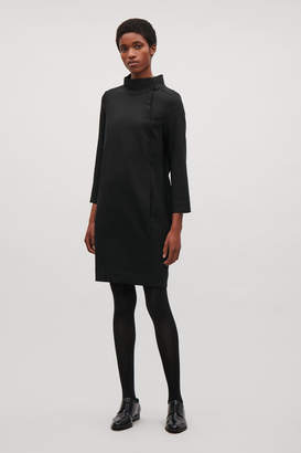 Cos WOOL DRESS WITH BUTTON OPENING
