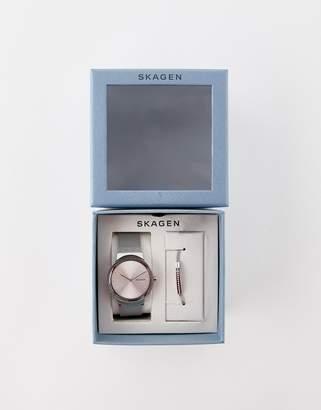Skagen SKW1105 Freja mesh watch & bracelet gift set