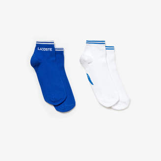 Lacoste Men's Two-pack of Tennis low-cut socks in jacquard jersey